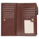 Oroton Klara Slim Zip Wallet in Nutmeg and Smooth Leather for female