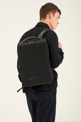 Oroton Theo Backpack in Black and Nylon And Smooth Leather for male