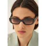 Oroton Grace Sunglasses in Olive Crystal and Acetate for female