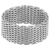 Oroton Freya Ring in Silver and Brass Mesh Chain With Ion Plating for female