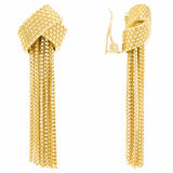 Oroton River Large Clip On Earrings in Gold and Brass Base Metal With Precious Metal Plating for female