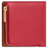 Oroton Harriet Mini Wallet in Scarlet and Saffiano Leather for female
