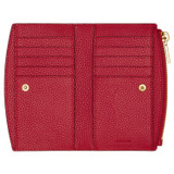 Oroton Atlas 10 Credit Card Zip Wallet in Scarlet and Pebble Leather for female