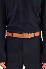 Oroton Bradford Reversible Belt in Choc/Cognac and Saffiano Leather for male