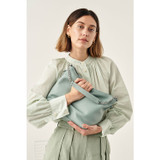 Oroton Nina Zip Top Hobo in Silver Sage and Pebble Leather for female