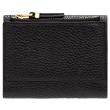 Oroton Anna Tri Fold Zip Wallet in Black and Pebble Leather for female