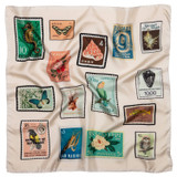Oroton Stamp Print Scarf in Stamp Print and 100% Silk for female