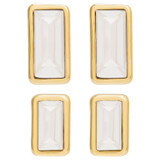 Oroton Peta Stud And Mini Set in Gold/Clear and Brass Based Metal With Precious Metal Plating/Crystal for female