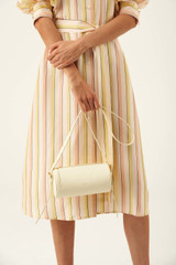 Oroton Margot Drum Bag in Pale Lemon and Pebble Leather for female