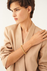 Oroton Luna Thin Bracelet in Gold and Brass Based Metal With Precious Metal Plating for female