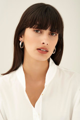 Oroton Aubrey Large Earrings in Silver and Brass Base Metal With Precious Metal Plating for female