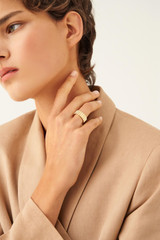 Oroton Cuba Statement Ring in Gold and Brass Based Metal With Precious Metal Plating for female