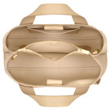 Oroton Daria Medium Day Bag in Light Sand and Pebble Leather for female