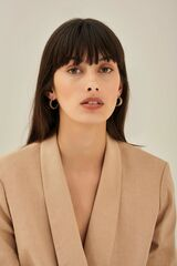 Oroton Tate Hoops in Gold and Brass Based Metal With Precious Metal Plating for female