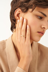 Oroton Cuba Ring in Gold and Brass Based Metal With Precious Metal Plating for female