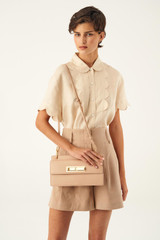 Oroton Luna Day Bag in Praline and Smooth Leather for female