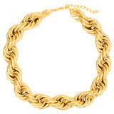 Oroton Luna Chunky Necklace in Gold and Brass Based Metal With Precious Metal Plating for female
