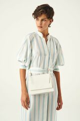 Oroton Alexis Crossbody in Pure White and Smooth Leather for female