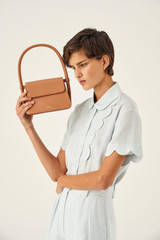 Oroton Arden Small Bag in Hazel and Smooth Leather for female