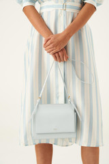 Oroton Alexis Crossbody in Ice Blue and Smooth Leather for female