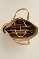 Oroton Duo Baby Bag Organiser in Latte and Nylon Fabric for female