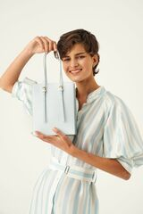Oroton Alexis Small Tote in Ice Blue and Smooth Leather for female
