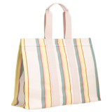 Oroton Fred Large Tote in Yellow Stripe and Coated Canvas/Smooth Leather for female