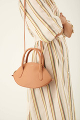 Oroton Avani Crescent Bag in Treacle and M:Leather L:Cotton T:60% Zinc, 40% Brass for female