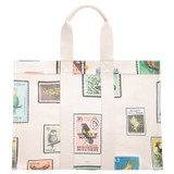 Oroton Fred Large Tote in Stamp Print and Coated Canvas/Smooth Leather for female