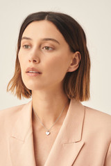 Oroton Lucy Heart Necklace in Silver and Brass Base Metal With Precious Metal Plating for female