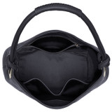 Oroton Kiera Hobo in Charcoal and Pebble Leather for female