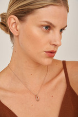 Oroton Icon O-Link Necklace in Rose Gold and Brass Base Metal With Precious Metal Plating for female