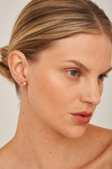 Oroton Icon Oval Stud Set in Rose Gold and Brass Base Metal With Precious Metal Plating for female