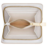 Oroton Dahlia Texture Square Seamless Wallet in White and Lizard Embossed Leather for female