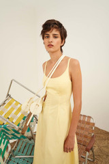 Oroton Structured Sundress in Daffodil and 100% Cotton for female