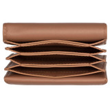 Oroton Alexis Multi Gusset Card Holder in Cedar Wood and Smooth Leather for female