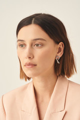 Oroton Ecru Twisted Hoops in Silver and Brass Base Metal for female