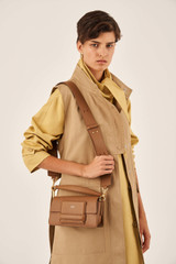 Oroton Alva Small Day Bag in Bran and Pebble Leather for female