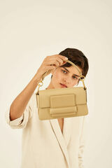 Oroton Alva Small Day Bag in Blonde and Pebble Leather for female