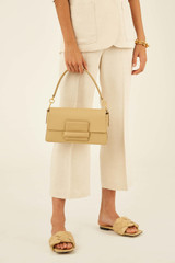 Oroton Alva Day Bag in Blonde and Pebble Leather for female