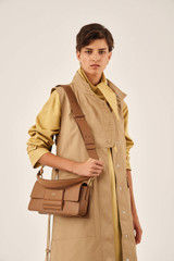 Oroton Alva Day Bag in Bran and Pebble Leather for female