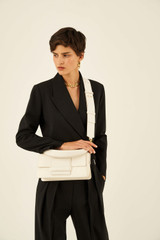 Oroton Alva Day Bag in Paper White and Pebble Leather for female