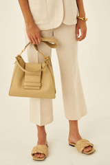 Oroton Alva Hobo in Blonde and Pebble Leather for female