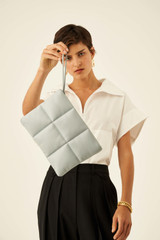 Oroton Freja Large Clutch in Dusk Blue and Smooth Leather for female