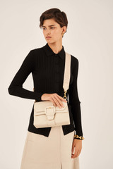 Oroton Logo Bag Strap in Wafer and Smooth Leather And Webbing for female