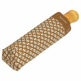 Oroton Bamboo Small Umbrella in Olive/Cream and Pongee Fabric (Water Resistant) for female