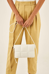 Oroton Freja Crossbody in Pure White and Smooth Leather for female