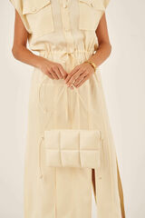 Oroton Freja Crossbody in Vanilla and Smooth Leather for female