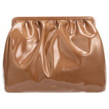 Oroton Celia Patent Day Clutch in Bran and Patent Leather for female