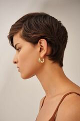Oroton Cora Medium Hoops in Gold and Brass Base Metal With Precious Metal Plating for female